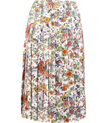 tory burch floral print skirt