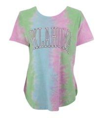 royce apparel inc women's oklahoma sooners bay tiedye t-shirt