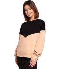 sweater be b196 colourblock pullover top - model 4