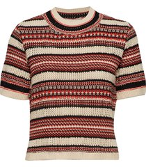 illisaiw pullover t-shirts & tops knitted t-shirts/tops multi/patroon inwear