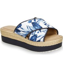 sandalias azul bata xiria bw mujer