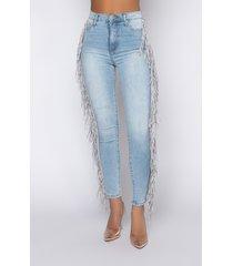 akira coachella high rise fringe skinny jeans