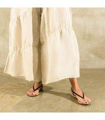 sandalia trespuntada negra para mujer lym