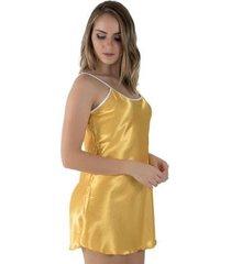 camisola linha noite de cetim feminina
