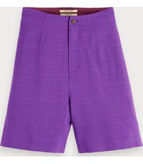 scotch & soda high waisted viscose shorts