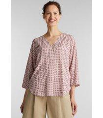 blusa estampada en lenzing™ ecovero™ blanco esprit