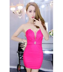 pf085 elegant open shoulder mini dress w mesh between bust ,free size, rosary re