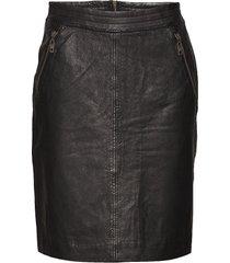 macie skirt kort kjol svart minus