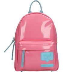 chiara ferragni backpack in rose-pink nylon