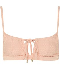 'apricot' gathered bow tie keyhole bralette