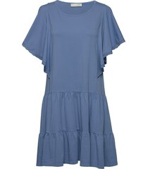 flowy dress korte jurk blauw odd molly
