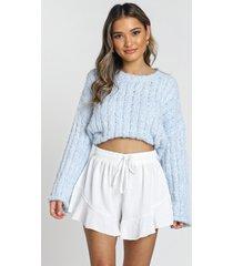 showpo beach vibes shorts in white - 20 (xxxxl) shorts