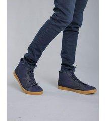 zapatilla azul rever pass denim high