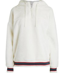 kailani striped faux fur hoodie