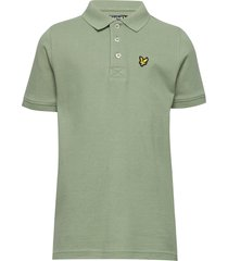 classic polo shirt t-shirts polo shirts grön lyle & scott junior