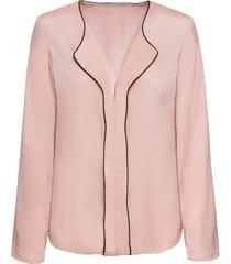 camicia con bordi a contrasto (rosa) - bodyflirt