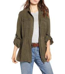 women's treasure & bond linen blend field jacket