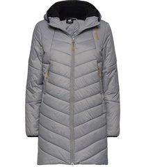 hmlvega coat gevoerde lange jas grijs hummel