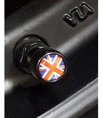 4x zorratin black union jack british flag tire valve stem cap cover for bmw mini