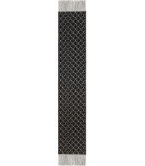 valentino garavani valentino vlogo jacquard virgin wool & cashmere scarf in black/white at nordstrom