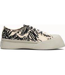 marni sneakers writings colore bianco crema