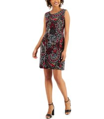 connected paisley fit & flare dress
