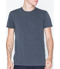 solid fablin ss stripe t-shirts & linnen insignia blue