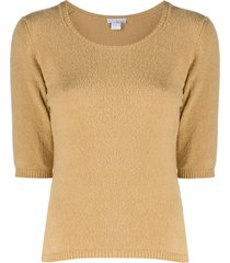 avant toi short-sleeved sweater - neutrals