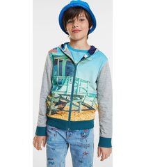 reversible unisex sweatshirt - blue - 11/12