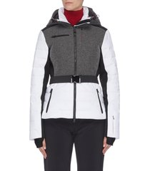 'kat' panelled performance puffer ski jacket