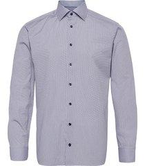 slim fit murrine glass micro print overhemd business blauw eton