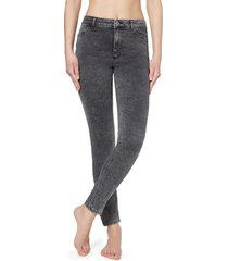 calzedonia push-up and soft touch jeans woman grey size s