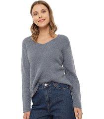 sweater jacqueline de yong cheer azul - calce holgado