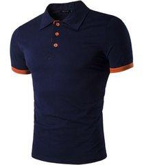 camiseta con costuras en contraste para hombre