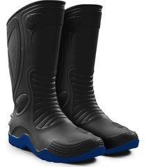 bota lluvia azul idecal moto dakar