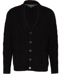 'capital' shawl collar cable knit cashmere cardigan