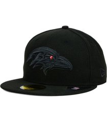 new era baltimore ravens black on black 59fifty cap