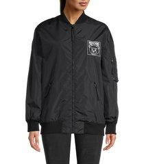 moschino women's bear nylon jacket - black - size 42 (8)