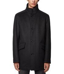 boss men's funnel-neck car coat