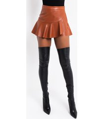 akira luxe faux leather skirt