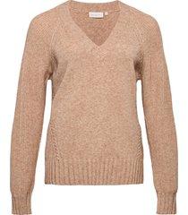 carsandie l/s pullover knt stickad tröja beige only carmakoma