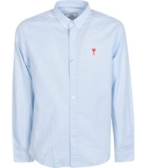 ami alexandre mattiussi a heart long-sleeved polo shirt