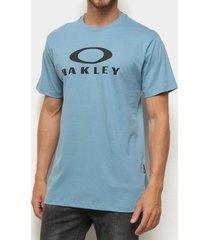camiseta oakley o-bark ss azul masculina