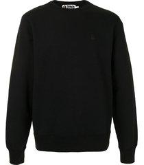 a bathing ape® ape patch sweatshirt - black