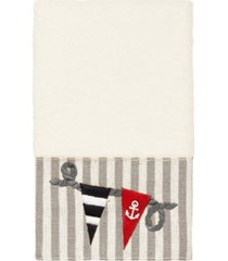 linum home 100% turkish cotton ethan embellished hand towel bedding