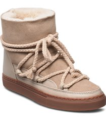 inuikii sneaker classic shoes boots ankle boots ankle boot - flat beige inuikii