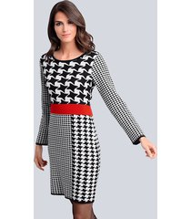 jurk alba moda zwart::wit::rood