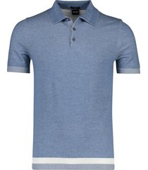 hugo boss poloshirt slim fit hemelsblauw