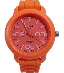 reloj q&q naranja dayoshop
