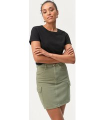 jeanskjol cargo denim skirt